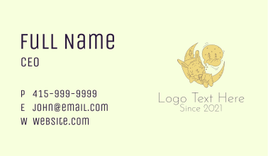 Bedtime Bunny Mascot  Business Card