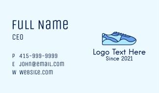 Blue Shoe Footwear Business Card