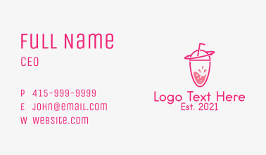 Pink Orbit Refreshment  Business Card