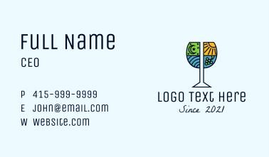 Vineyard Wine Badge Business Card