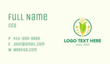 Organic Corn Farm Business Card