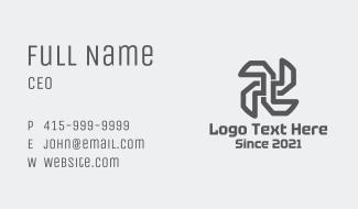 Industrial Propeller Outline Business Card
