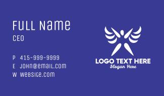 Human Angel Wings Business Card
