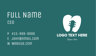 Tooth Guitar Business Card