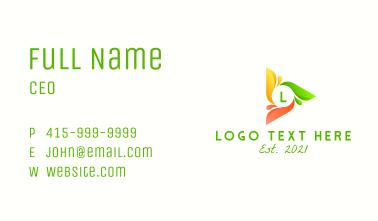Elegant Artistic Letter  Business Card