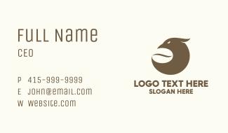 Brown Coffee Bird Business Card