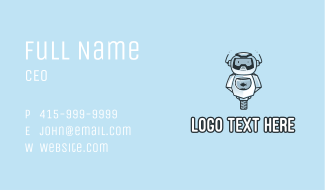 Blue Aquatic Robot Business Card