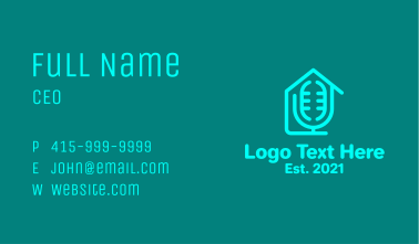 Home Podcast Record  Business Card