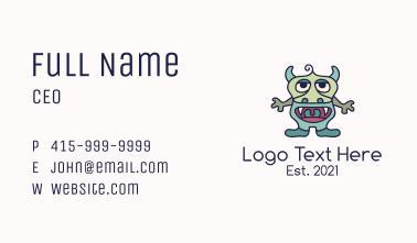 Gargoyle Monster Mascot Business Card