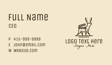 Deer Nature Documentary Business Card