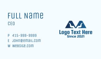 Letter M Horns Business Card