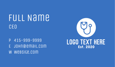 Medical Check Up Mail Business Card