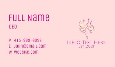 Lady Gymnast Sports  Business Card