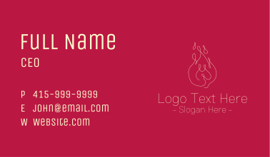 Monoline Fire Drawing Business Card