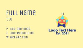 Star Laundry Hanger Business Card
