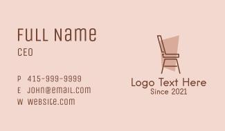 Minimalist Chair Design Business Card