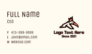 Crown Toucan Bird Business Card