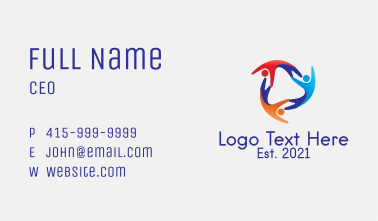 Colorful Humanitarian Charity Business Card