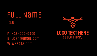 Red Tribal Bird Gaming Business Card