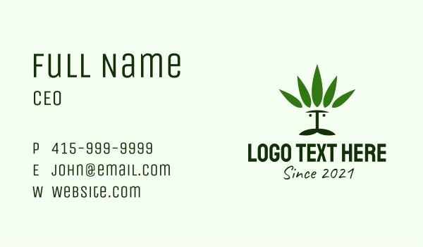 hemp - Cannabis Man Business card horizontal design