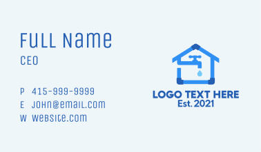 House Pipe Maintenance  Business Card