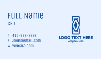 Abstract Double Milk Bottle  Business Card