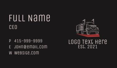 Express Cargo Truck Business Card