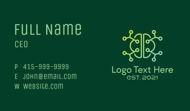 Minimalist Brain Molecule Business Card