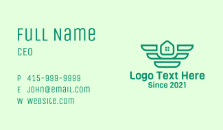 Green Winged Housing Business Card