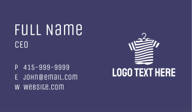 Striped Tee Shirt Business Card