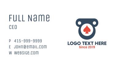 Spade Pillar Badge Business Card