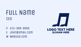 Foot Note Business Card