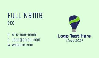 Northern Lights Lightbulb Business Card