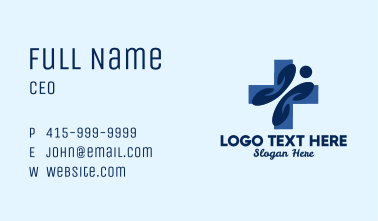 Blue Person Clinic Business Card