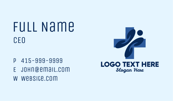 frontliner - Blue Person Clinic Business card horizontal design