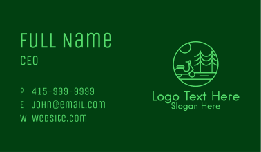 Eco Scooter Travel  Business Card