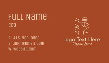 Minimalist Road Sign  Business Card