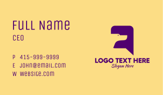 Dog Chat Message  Business Card