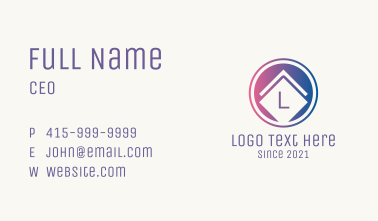 Tile Company Letter Business Card
