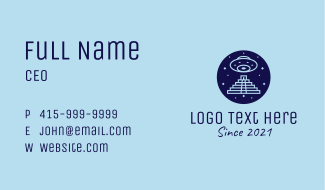 Mayan Spaceship Business Card