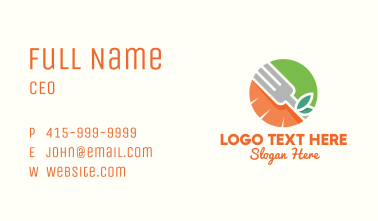 Orange Carrot Fork Business Card