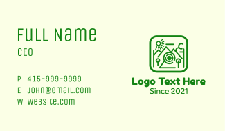 Outdoor Photo Photography Business Card