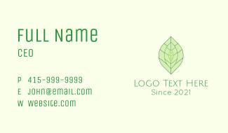 Minimalist Tea Leaves  Business Card