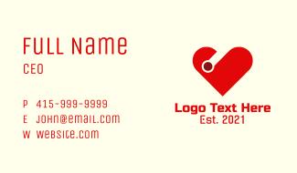 Digital Heart Technology  Business Card