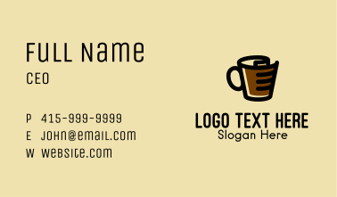 Hot Chocolate Mug  Business Card