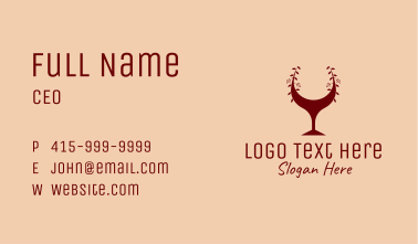 Red Wine Glass Bar Business Card