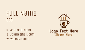 Steamy Coffee Cup  Business Card