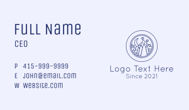 Night Forest Badge Business Card