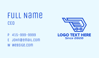 Blue Tech Wing Business Card