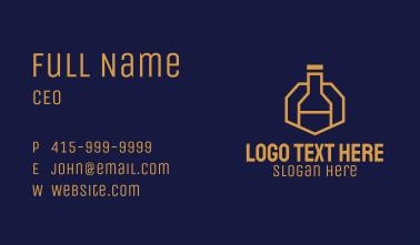 Gold Wine Bottle Business Card